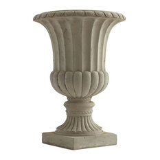 20.25 in. Large Sand Colored Urn