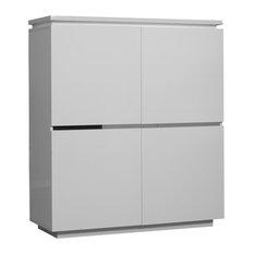 Electra 4-Door Storage Unit, White High Gloss