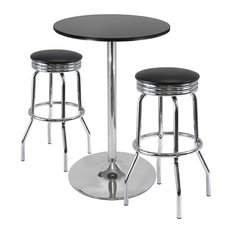 """Winsome Summit 3-Piece Pub Table Set, 28"""" Table and 2 Stools"""
