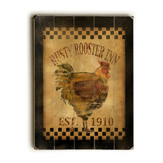 Rusty Rooster Inn Wooden Sign