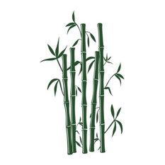 """Bamboo Wall Decal, Dark Green, 20""""x34"""""""