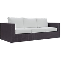 Hinsdale Patio Sofa, White
