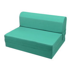 Magshion - MaGshion Sleeper Chair Folding Foam Bed Teal Green Single - Sectional Sofas  sc 1 st  Houzz : turquoise sectional sofa - Sectionals, Sofas & Couches