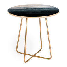 Monika Strigel Within The Tides Stormy Weather Grey Round Side Table