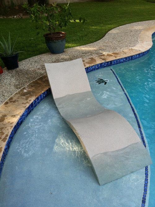 Ledge Lounger In Pool Furniture