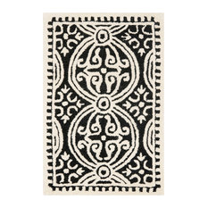 Studio Seven Cambridge Rug, Black/Ivory, 2'x3'