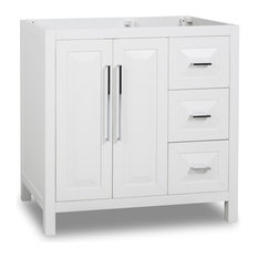 "Cade Contempo Jeffrey Alexander 35"" Vanity, White, No Top"