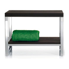 Harmony 809 Wood Bench with Board in Polished Stainless Steel