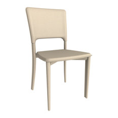 Metro Leather Side Chair, Leather: Sand