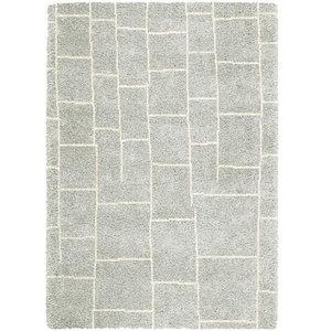 Logan LG05 Tile Rug, Grey and Ivory, 200x290 cm