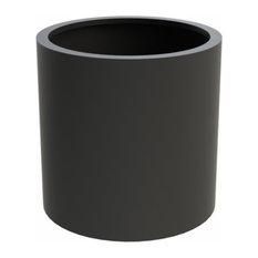 Adezz Aluminium Planter, Black Grey, Sydney Column, 80x80cm