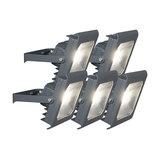 Set of 5 Flood Light Radius 2 LED 30W 4000K Dark Grey
