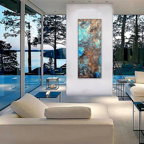 large wall art textured original abstract fluid acrylic painting imagine. Black Bedroom Furniture Sets. Home Design Ideas