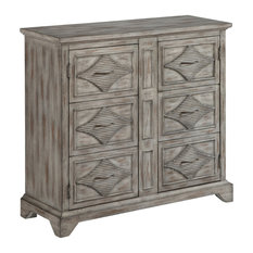 Accent Cabinet With Two Style Doors Gray With A Touch Of Brown 40-inch