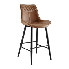 Linon Mabry 30-inch Wood Bar Stool In Brown