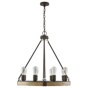 Capital Lighting 8-Light Chandelier 430681SS, Sea Salt