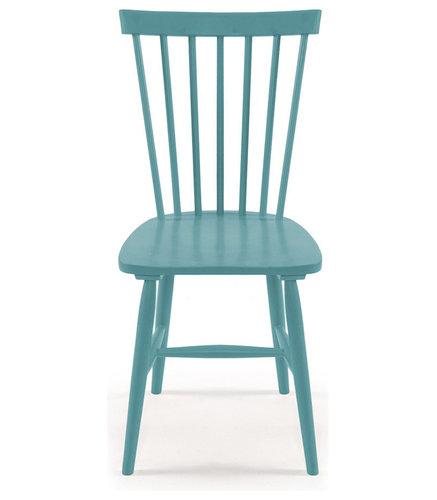 Wood H17 Pinnstol, Turkos - Spisebordsstole