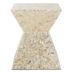 Calypso Sunburst Mosaic Stool - Multi, Beige