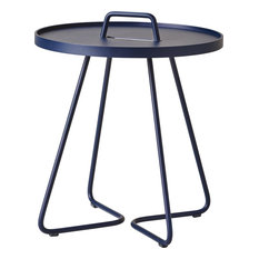 On-The-Move Side Table - Midnight Blue, Aluminum
