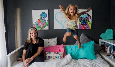 Chambre d'enfant de la Semaine : Déco arc-en-ciel pour une grande fille