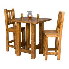 Barnwood Pub Table And Chair Set