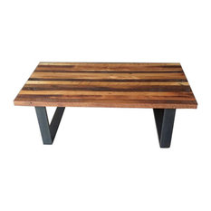 What WE Make   Reclaimed Wood Butcher Block Coffee Table   Coffee Tables
