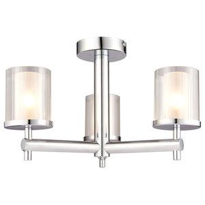 Britton 3-Light Semi Flush Ceiling Light, IP44, 18 W