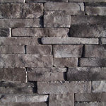 """Mountain View Stone - Stack Stone, Cool Gray, 7.5 Lineal Ft Corners - Stack stone is a profile that features a combination of sizes that creates an authentic appearance. This stone has drastic variations of thickness, depth, and character copied directly from nature. The stacked stone pattern is clean, contemporary and a favorite among designers and architects. Stack stone is a stone veneer product measuring 1"""" to 2.5"""" thick and therefore thinner than traditional stone siding for easier, lighter handling. All our manufactured stone veneer products are suitable for interior applications such as stone accent walls or stone fireplaces as well as exterior applications such as stone veneer siding. Stack stone is available in boxes of 10 square foot flats, boxes of 7.5 lineal foot matching corners, 150 square foot bulk crates, and samples are also available!"""