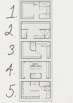 Please help: 16 x 11 Master Bath + Closet Layout