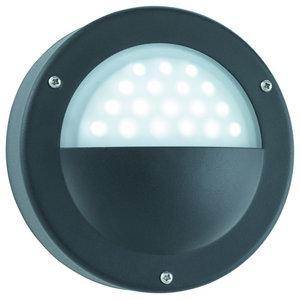 LED Outdoor Modern Black Wall Light, White, LED IP44