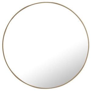 "Elegant Eternity Metal Frame Round Mirror 32"" Brass Finish"