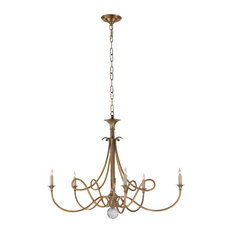 Double Twist Large Chandelier, Hand-Rubbed Antique Brass