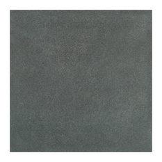 "SomerTile 7.75""x7.75"" Twenties Ceramic Floor and Wall Tile, Black"