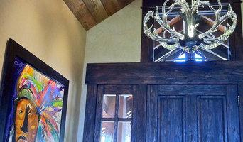 """42"""" Crystal Antler Chandelier  Beaver Creek Colorado Mountain Home"""