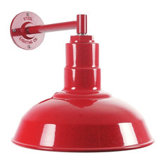 The Westchester Industrial Barn Light - Short and Compact, Red