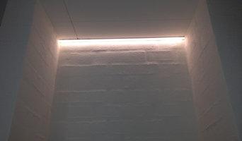 LED-belysning i niche