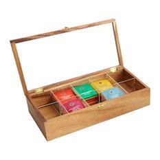 Woodard U0026 Charles   10 Compartment Tea Storage Box   Coffee And Tea Maker  Accessories