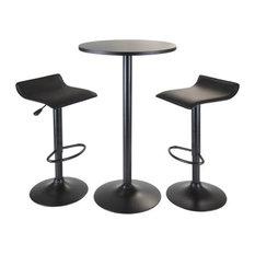 3-Pc Round Pub Table Set
