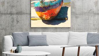 Photo Art on Canvas - Madagascar Dugout Canoe