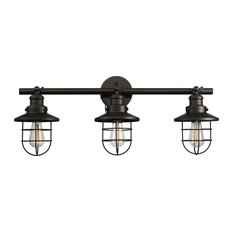 Globe Electric   Beaufort 3 Light Oil Rubbed Bronze Wall Sconce   Bathroom  Vanity Lighting