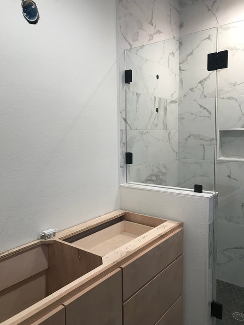 Off Center Sink And Vanity Light