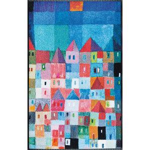 Colourful Houses Door Mat, 120x75 cm