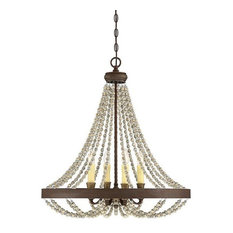 Mallory 4-Light Chandelier, Fossil Stone