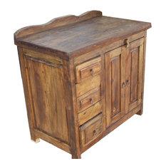 San Francisco Rustic Reclaimed Wood Bathroom Vanity 48-inchx20-inchx32-inch Left Side Draw