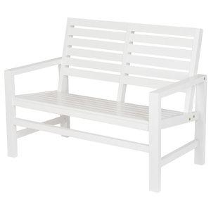 Contemporary Bench, White