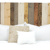 Handcrafted Headboard, Leaner Style, Rustic Mix, King