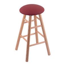 Holland Bar Stool Oak Round Cushion Extra Tall Bar Stool Smooth Legs