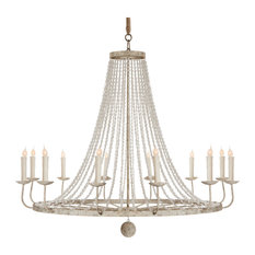 Naples French Country Clic Beaded Grey 12 Light Chandelier Chandeliers