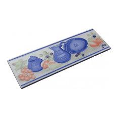 """3"""" x 10"""" Listello Tile Border Liner Crockery Ceramic"""