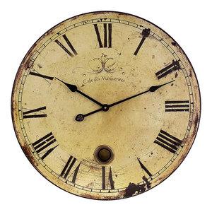 23 in. Large Wall Clock w Pendulum